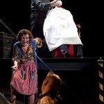 SWEENEY TODD by Sondheim; Michael Ball (as Sweeney Todd); Imelda Staunton (as Mrs Lovett); Will Barratt (as man in the chair); Chichester Festival Theatre, Chichester, UK; 4 October 2011; Credit : Pete Jones/ArenaPal; www.arenapal.com